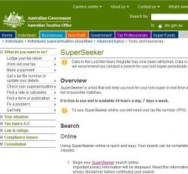Lost Super: Find your superannuation