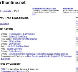 Perthonline Perth Classifieds