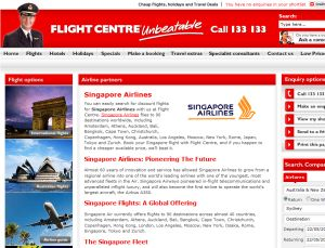 Singapore Air - Flight Centre