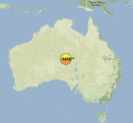 Swine Flu Maps - Australia