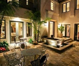 tile-patio-and-fountain