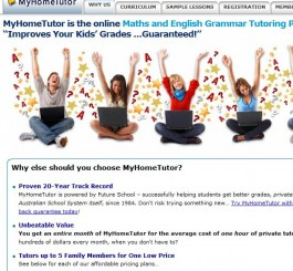 www.myhometutor.com.au Maths Online Tutoring