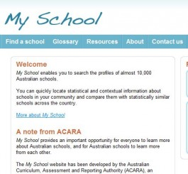 www.myschool.edu.au My School Website