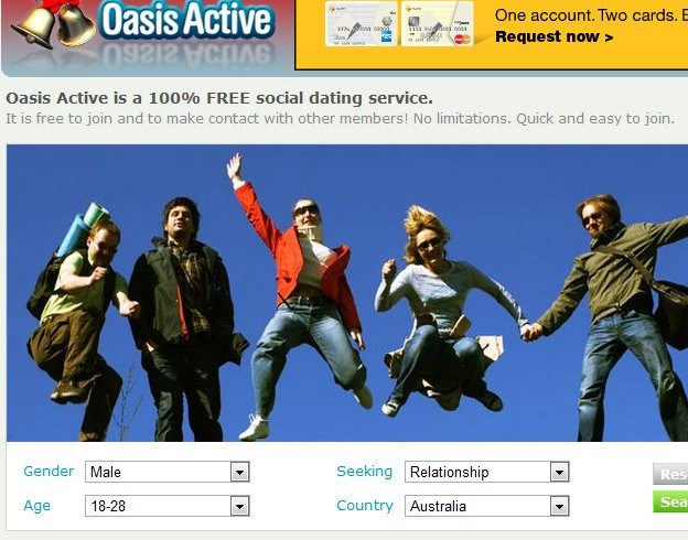 dating oasis active Oasis active dating oasis active free online dating with automated matching and instant search speed dating lincoln ne for fun, friendly oasis active dating singles oasis davis with similar interests, find the perfect match by.